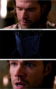 11x06 Our Little World [gifset] - Sam realizing that his visions are coming from the cage - Supernatural