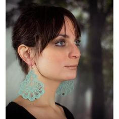 Oleandro sage lace earrings | Tita' Bijoux