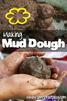 Sensory Play: Making Mud Dough --- obv replace cornstarch with another safe starch (potato, tapioca, arrowroot, etc. Sensory Bins, Sensory Activities, Sensory Play, Toddler Activities, Learning Activities, Sensory Table, Teaching Ideas, Preschool Ideas, Outdoor Preschool Activities