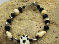 OOAK Handmade DOG BONES & Paw Bracelet by blingo10 on Etsy