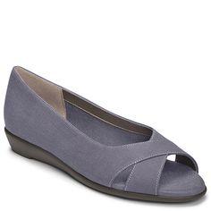 13e7465cde48 Silver Platter Peep Toe Flat