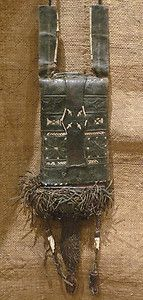 Africa - Old Tuareg Leather Wallet Purse - Niger