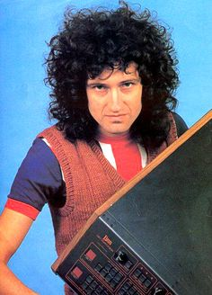 Brian May - Photo from 1982 Tour Programme (Hot Space)