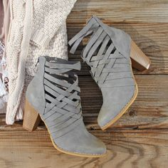 The Jax Braided Booties.. The perfect boots for spring. www.spool72.com