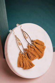 Jasper Tassel Earrings in Camel – böhme Miss Match, Tassel Earrings, Type 3, Jasper, Jewelry Collection, Camel, Tassels, Simple, Accessories