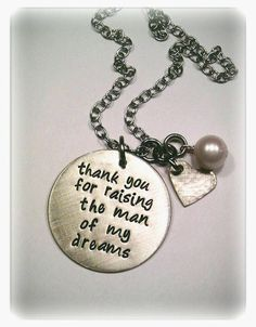For the Mother of the Groom or Mother-in-Law gift ... love this idea!