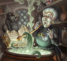 Witch cooking. Overdosed!