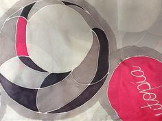Bufanda de seda pintada a mano, serie Utopía; por Patricia Bueso