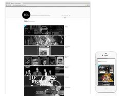EricPaulSnowden.com Responsive Redesign by Eric Snowden, via Behance