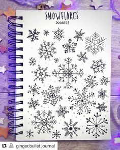 Bullet Journal features on December is here and snowflakes are everywhere love this doodle page by ginger.journal It was pretty complicated to draw Bullet Journal December, Bullet Journal Christmas, Bullet Journal Cover Page, Bullet Journal Font, Bullet Journal Ideas Pages, Bullet Journal Inspiration, Bullet Journals, Pages Doodle, Doodle Fonts