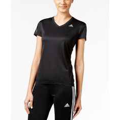 adidas Response ClimaLite Running Top ($35) ❤ liked on Polyvore featuring activewear, activewear tops, black, adidas sportswear, adidas activewear and adidas