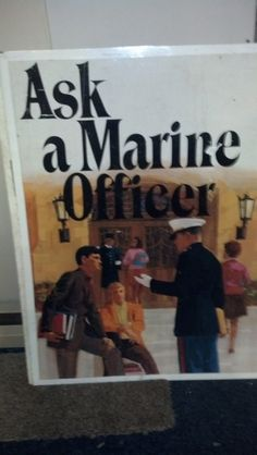 """Antique USMC Metal Recruiting Poster """"Ask A Marine Officer"""" in BeckyWes' Garage Sale in Luck , WI for $100.00. USMC 40"""" x 30"""" Metal """"Ask A Marine Officer"""" Double-Sided Recruiting Poster. A few minor scratches but a terrific addition to any Military collection! I have a total of 5 posters available, see my other postings!!"""