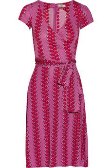 Issa Wrap-effect printed jersey dress   THE OUTNET