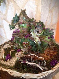 Mini-jardin éternelle ... Mini-cabane monde féerique : Accessoires de maison par krisamateur