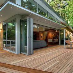 Glasfalttüren für Terrasse und Wintergarten – 20 Inspirationen