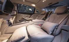 Backseat of a 2016 Mercedes-Maybach S600