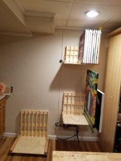 """20"""" Art Storage Rack Art Studio Storage, Art Studio Organization, Art Storage, Plywood Storage, Storage Racks, Storage Organization, Home Art Studios, Art Studio At Home, Garage Art Studio"""