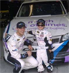 Denny Hamlin and National Ambassador Kieran Wittstruck, age 6, with the Team FedEx's #11 March for Babies car! (Photo credit:FedEx) You can support March for Babies by signing up for a walk today!