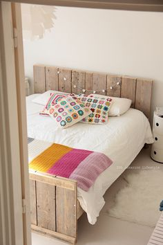 IDA Interior LifeStyle flickr stream. Lots of very pretty photos and ideas here. Granny square pillow covers and crocheted blanket