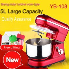 2PC  5 Liters electric stand mixer, food mixer, food blender, cake/egg/dough mixer, milk shakes, milk mixer //Price: $US $249.12 & FREE Shipping //     #homeappliance24