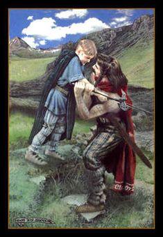 Celtic Art: Celtic Mythology; The Realistic Celtic Art work and illustrations of Celtic myth & legend by Howard David Johnson Death of Conlaoch