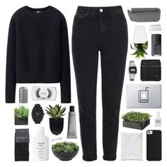 DIANA by feels-like-snow-in-september on Polyvore featuring Uniqlo, Topshop, SELECTED, Kara, Nixon, Casio, MAC Cosmetics, Fresh, philosophy and NARS Cosmetics