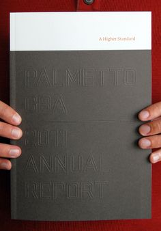 Blind embossing for a simple annual report cover