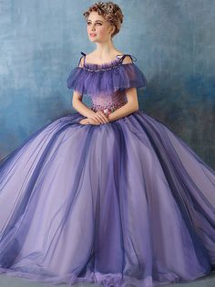 Vintage Ball Gowns Dresses, Cheap Vintage Ball Gown Dresses Online for Sale Purple Evening Dress, Formal Evening Dresses, Dress Formal, Evening Gowns, Ball Gowns Prom, Ball Gown Dresses, Wedding Gowns, Prom Dresses 2017, Quinceanera Dresses