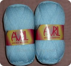 Sky Blue Avril Double Knitting Wool/Yarn £1.70 per 100 gram Ball or £8 for 5 balls Plus P&P.