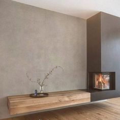 Home Fireplace, Modern Fireplace, Living Room With Fireplace, Fireplace Design, Living Room Tv, Home And Living, Living Area, Painel Tv Sala Grande, Living Room Designs