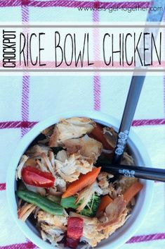 Crockpot Rice Bowl Chicken - super easy with ingredients you already have in your kitchen. #crockpot #recipe