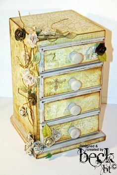 stack the match boxes together to make a fab mini chest
