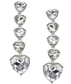 Lipsy Heart Drop Earrings