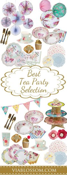 You don't want to miss our Top Tea Party ideas and decorations!!  All the Tea Party Supplies you will need for a Baby Shower, girl birthday party and Bridal Shower!