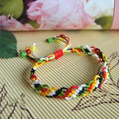 DIY Crafts : DIY make macrame knot bracelet