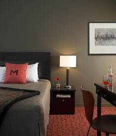 A standard room - is anything but standard...historic layout, but hip decor - Moda Hotel, Vancouver, BC
