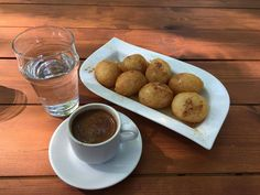 Have a nice week! Greek coffee loukoumades (kind of donut) and the greek sun!