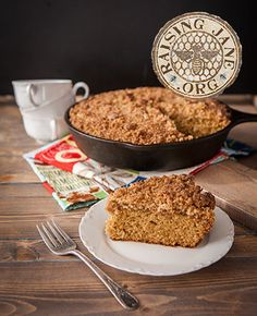 "Gluten-free Skillet Coffee Cake  Prep Time: 25 Minutes  Cook Time: 35-40 Minutes  Makes: One 10"" Cake"