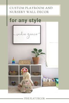 This high-quality personalized name sign is the perfect addition to any nursery, playroom, kids bedroom, or gallery wall decor! If you're looking for easy and beautiful wall decor ideas, this wood framed sign is a wonderful option. Not only does it pair with any home decor style whether farmhouse, modern, minimalist, boho, midcentury, and everything in-between, it's also gender neutral. Get your personalized baby or kid name sign today at Pine Flat Decor! Nursery Wood Sign, Nursery Room Decor, Kids Bedroom, Modern Farmhouse Living Room Decor, Modern Farmhouse Decor, Pillow Room, Beautiful Wall, Personalized Baby, Modern Minimalist