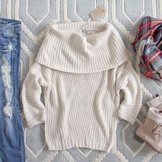 The Nubby Knit Sweater in Cream, Cozy Knit Fall & Winter Sweaters from Spool 72. | Spool No.72