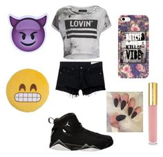 """""""B***h don't kill my vibe"""" by lakya1000 on Polyvore featuring interior, interiors, interior design, home, home decor, interior decorating, Religion Clothing, rag & bone/JEAN, NIKE and Throwboy"""
