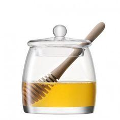 LSA Serve Honey Pot & Oak Dipper   Occa-Home.co.uk