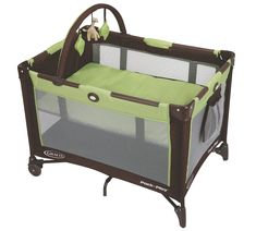Use downstairs for naps and diaper change when infants; older babies use as playpen or nap. Great for travel / overnighters. If you don't get a crib (bedshare!) then this is especially handy for naptime.   Graco Pack 'n Play On the Go Travel Playard, Go Green