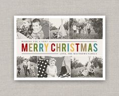 Christmas Collage Photo Card by announcingyou on Etsy