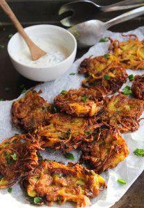Crispy Onion Bhajis - Gluten Free & Vegan Coconut oil is for deep frying. CS
