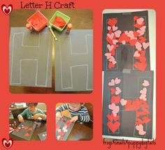 Letter H- worksheet, coloring page, and craft