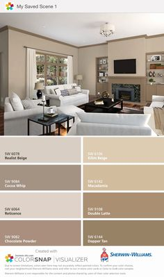 Beige Living Room Paint Unique Idea by Amber Wagstaff On Valley View Kitchen Beige Living Room Paint, Interior Paint Colors For Living Room, Room Wall Colors, Interior House Colors, Living Room Color Schemes, Paint Colors For Home, Living Room Colors, Bedroom Colors, Home Living Room