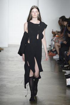 A model walks at Parsons MFA Runway  September 2016 at MADE Fashion Weekat Milk…