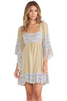 Free People Heart of Gold Mini Dress