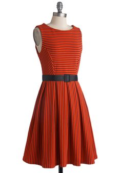 Coffee Shop Cutie Dress. Cappuccino in hand, you walk towards a welcoming armchair wearing this adorable, ModCloth-exclusive, A-line dress.  #modcloth